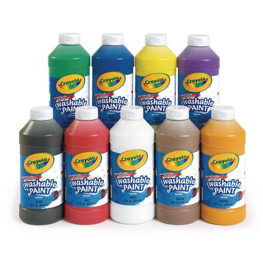 Image of Black Crayola Washable Paint, 16oz