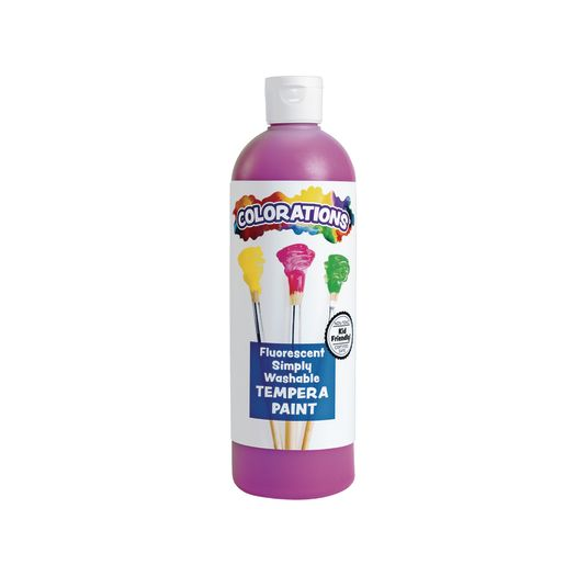 Colorations® Simply Washable Tempera Paint, Fluorescent Purple - 16 oz.