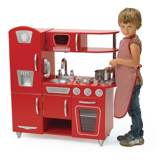 Red Retro Combo Kitchen