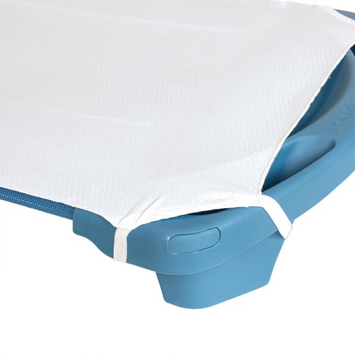 Image of Angels Rest White Toddler Cot Sheet