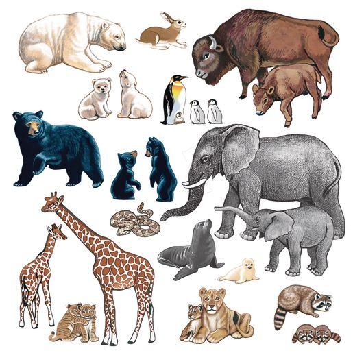 Image of Wild Animals Felt Set