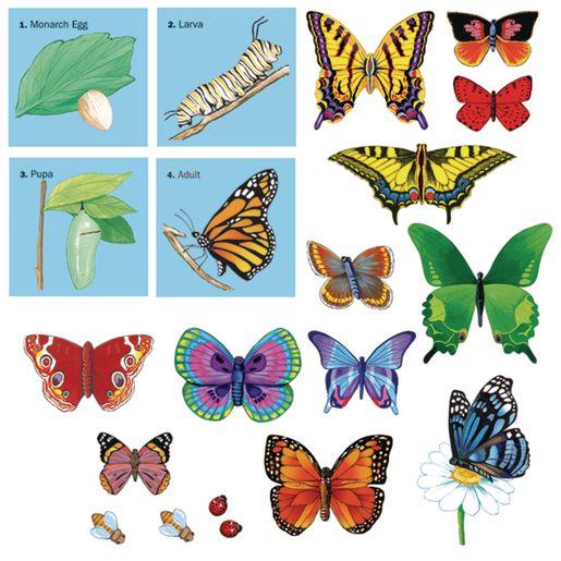 Image of Butterflies Felt Set