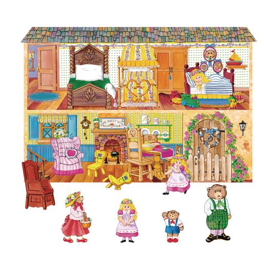 Image of Goldilocks and the 3 Bears Felt Set