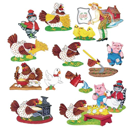 Image of Little Red Hen Felt Set