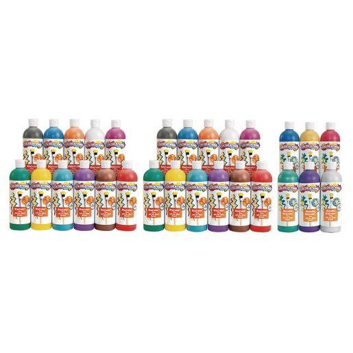 BioColor® Paint, Original, Fluorescent & Metallic Colors, 16 oz. - Set of All 26