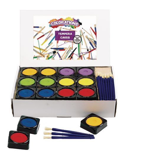 Image of Colorations 36 Individual Tempera Cake Classroom Pack