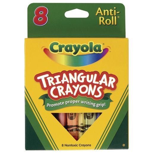 Image of Crayola Triangular Anti-Roll Crayons