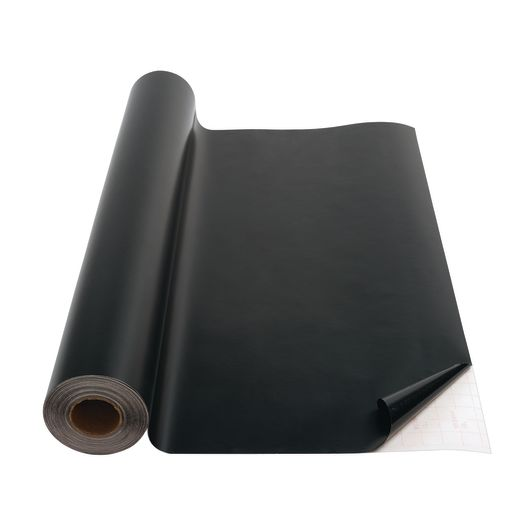"Black Con-Tact® Repositionable Cover - 18""W x 60'L"