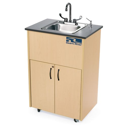 Ozark River® Portable Hot Water Sink with Laminate Top and Stainless Basin