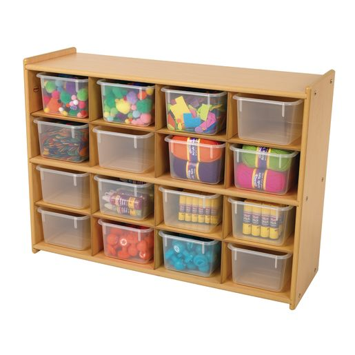 """Angeles Value Line™ Cubbie Storage - 36""""W, With Clear Trays"""