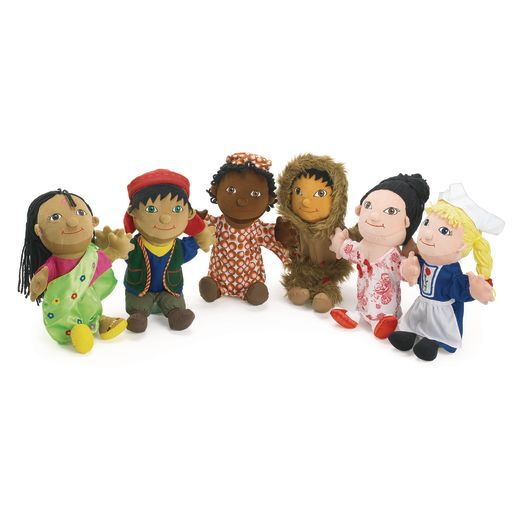 Image of Excellerations Around The World Puppets - Set of 6