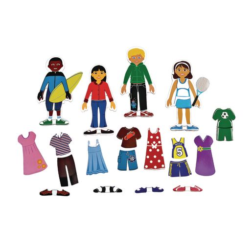 Excellerations® Magnetic Dressing Dolls - 80 Pieces