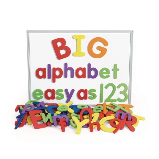 Image of Excellerations Giant Foam Magnetic Alphabet Letters & Numbers - 114 Pieces