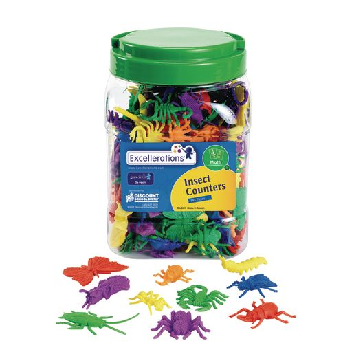 Image of Excellerations Assorted Bug Counters - 144 Pieces