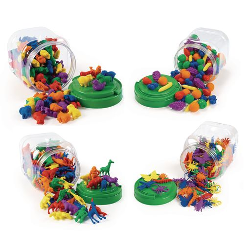 Image of Excellerations Math Manipulatives - 4 Different Sets, 444 Pieces Total