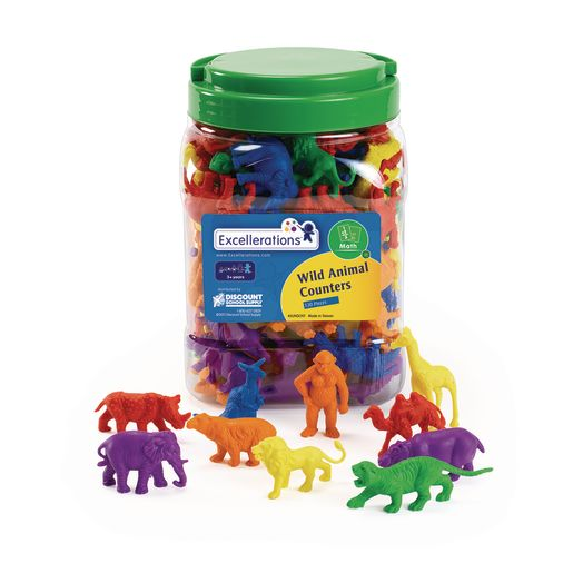 Excellerations® Math Manipulatives - 4 Different Sets, 444 Pieces Total