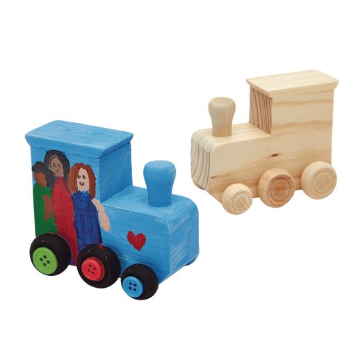 Colorations® Decorate Your Own Wooden Trains - Set of 12