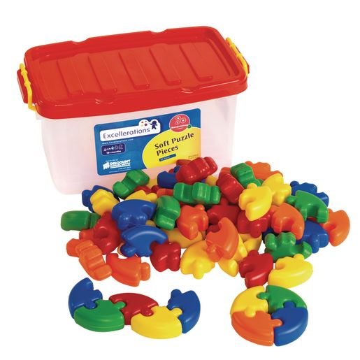 Image of Excellerations Soft Puzzle Pieces - 62 Pieces