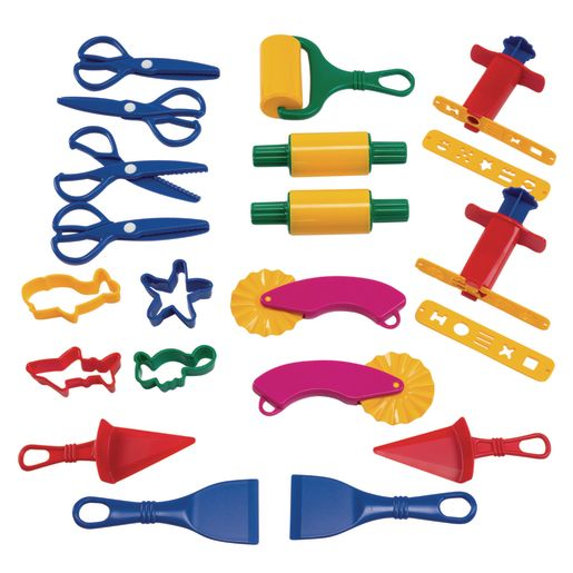 Image of Colorations Dough Tools Starter Set - 21 Pieces
