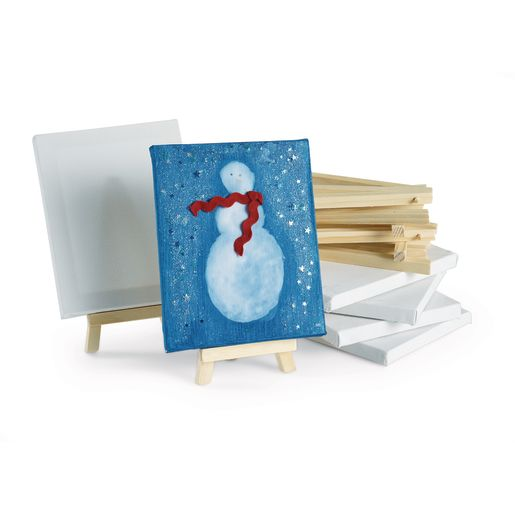 Colorations® Mini Canvases and Easel - Set of 6