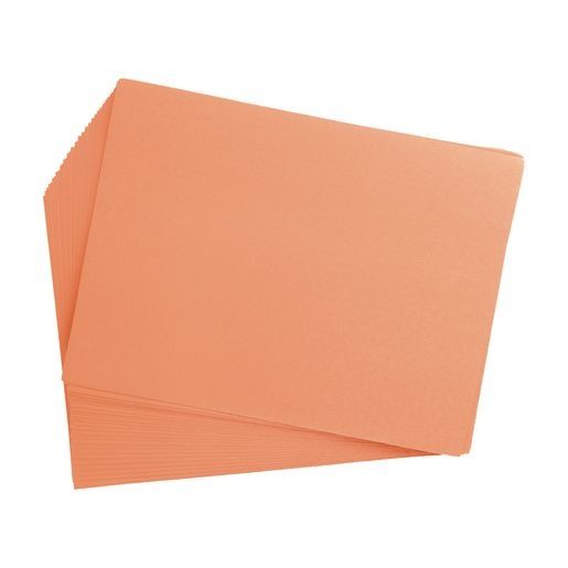 "Yellow Orange 9"" x 12"" Heavyweight Construction Paper Pack - 50 Sheets"