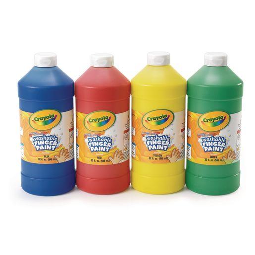 Image of Crayola 32 oz. Washable Finger Paint - Red