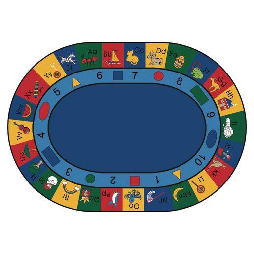 """Blocks of Fun 8'3"""" x 11'8"""" Oval Premium Carpet"""