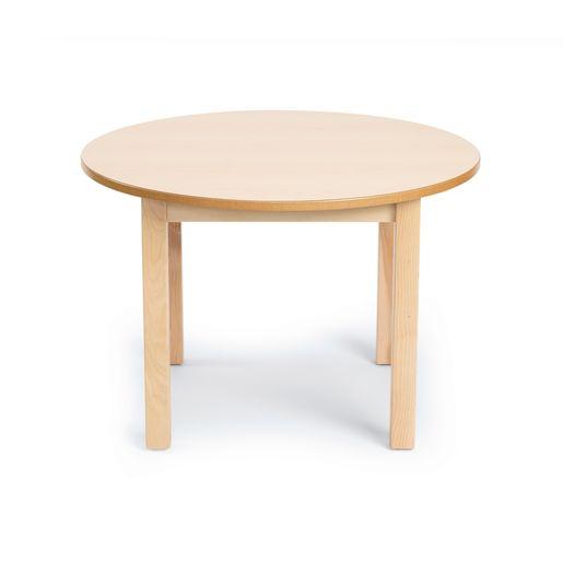 "30"" Round Maple Laminate Table"