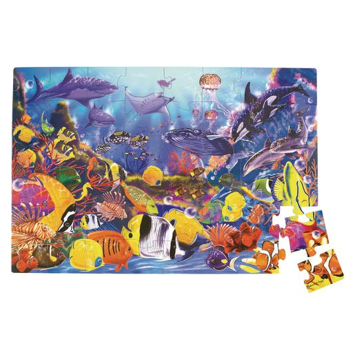 Image of Jumbo Animal Floor Puzzle - Underwater