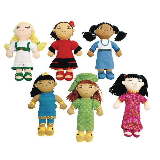 Image of Excellerations World Friends Dolls - Set of 6 Girls