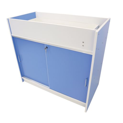 Image of Infant Care Changing Cabinet - Blue