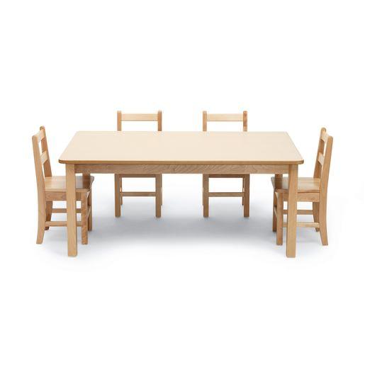 "24"" x 48"" Maple Laminate Table - 22""H"