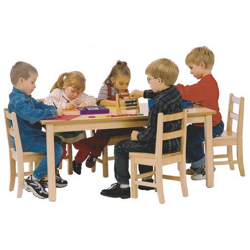 "30"" x 48"" Maple Laminate Table - 14""H"