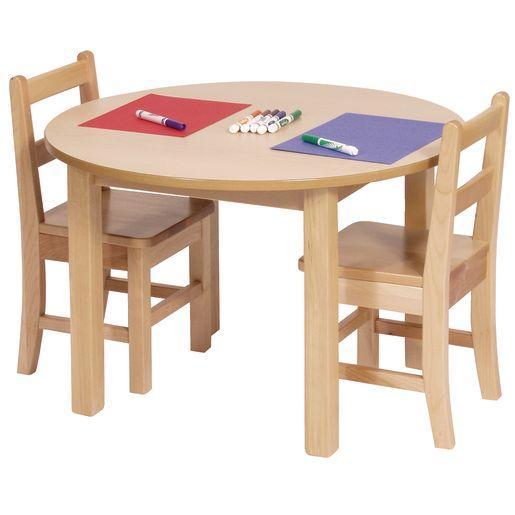 "30"" Round Maple Laminate Table - 18""H"