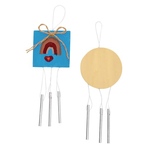 Colorations® Wooden Wind Chimes - Set of 12