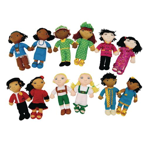 Image of Excellerations World Friends Dolls - Set of All 12