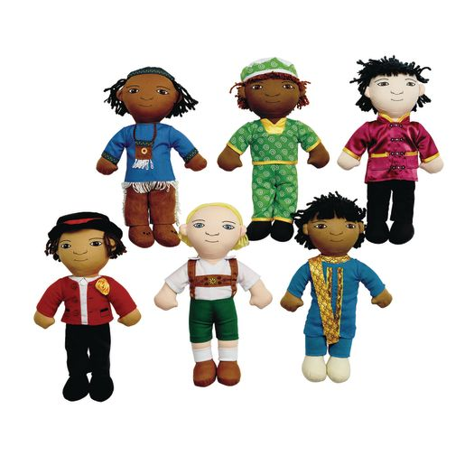 Image of Excellerations World Friend Dolls - Set of 6 Boys
