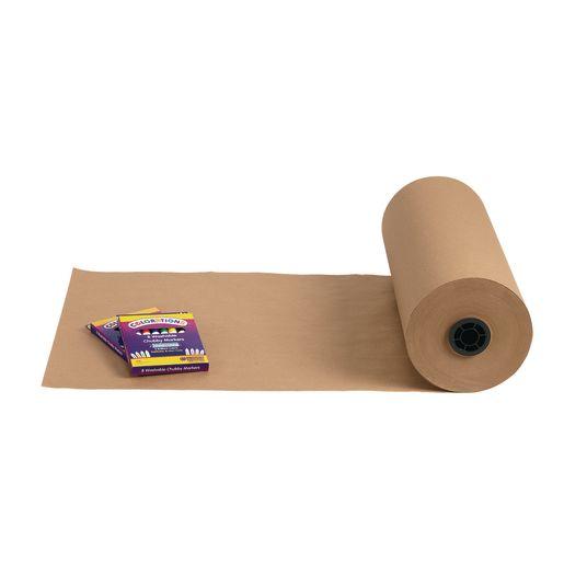 """18"""" x 1000' Tan 40 lb. Butcher Paper Roll"""