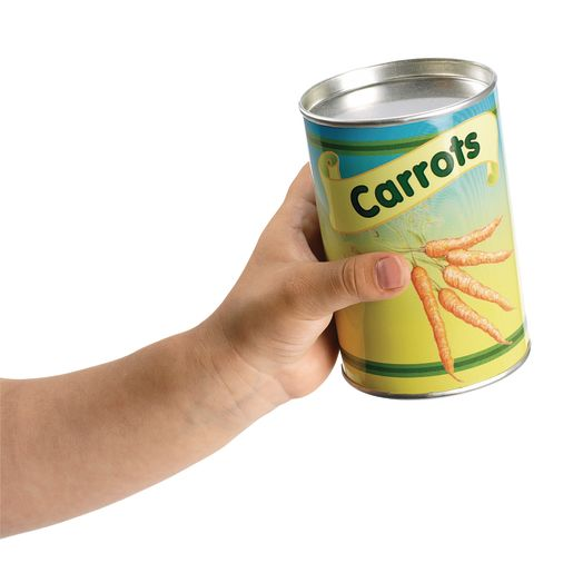 Excellerations® Realistic Tin Can Play Food - Set of 20