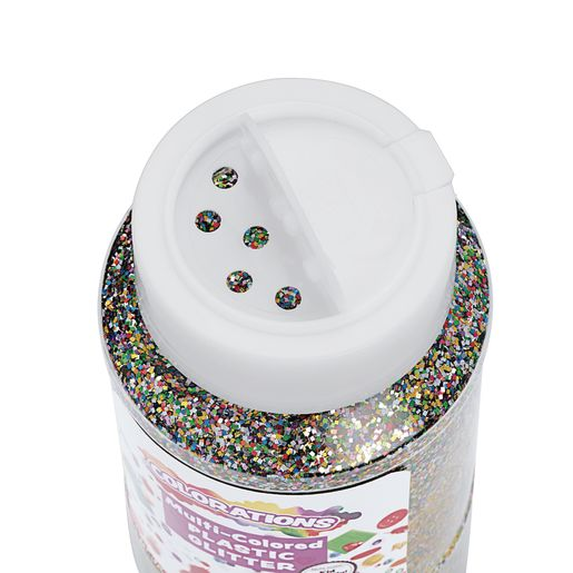 White Colorations® Extra-Safe Plastic Glitter - 1 lb.