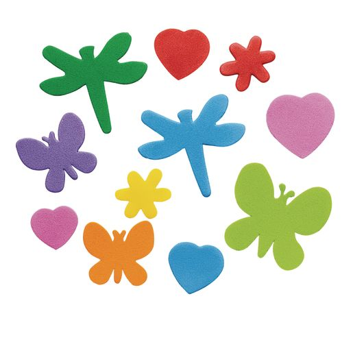 Colorations® Flowers, Hearts & Bug Foam Shapes - 500 Pieces_2