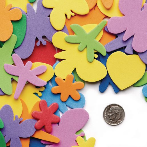 Colorations® Flowers, Hearts & Bug Foam Shapes - 500 Pieces_3