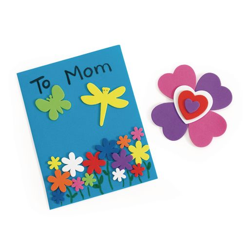 Colorations® Flowers, Hearts & Bug Foam Shapes - 500 Pieces_4