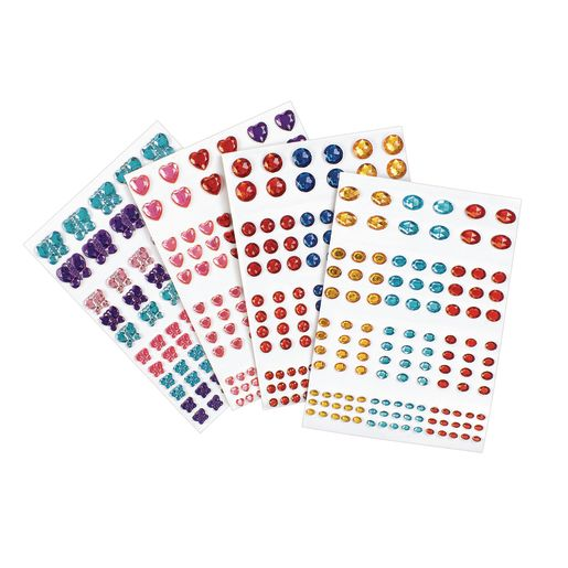 Image of Colorations Peel & Stick Gems - 442 Pieces