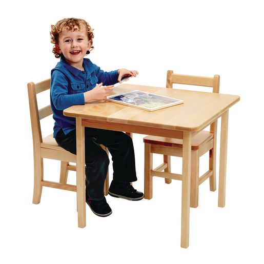 """24"""" x 24"""" Maple Table and Chair Set"""