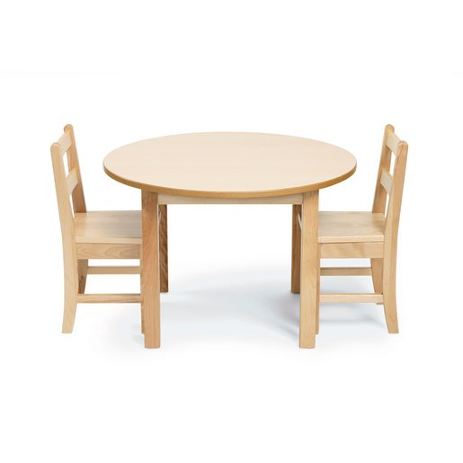 """28"""" Round Maple Table & Chair Set"""
