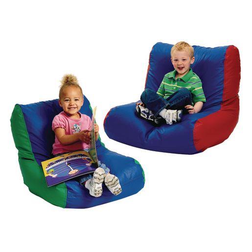 Toddler High-Back Beanbag Chair - Green/Blue