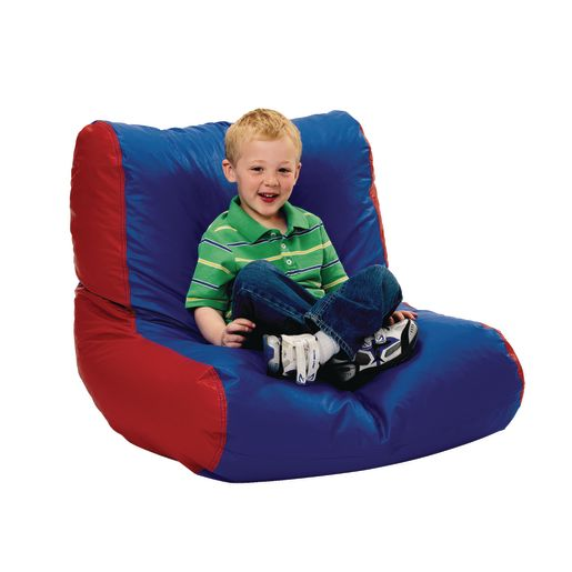 Youth High-Back Beanbag Chair - Green/Blue