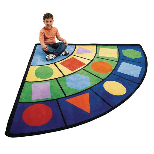 Geometric Shape Carpet - 6' Radius