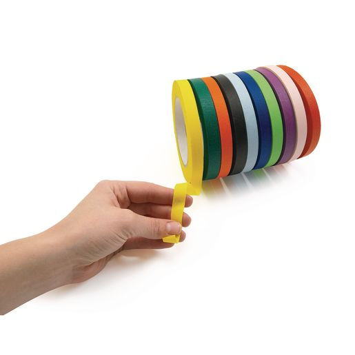 "1/2"" Colored Masking Tape - Set of 10"
